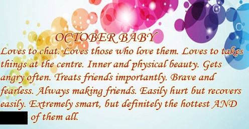 People Born In October Crave Balance And Stability In Everything They Do,  And Have A Positive Outlook On Life. You Donu0027t Like Confrontation, ...