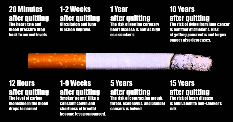 Here Is What Happens To Your Body After You Quit Smoking Step By